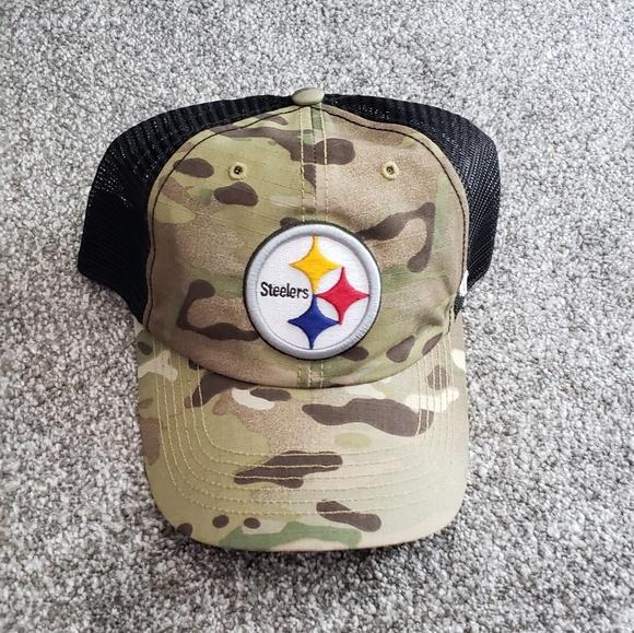 830c974c6 NFL Accessories | Steelers Military Flex Fit Trucker Hat | Poshmark
